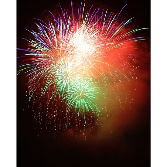 Firework Cluster Printed Backdrop