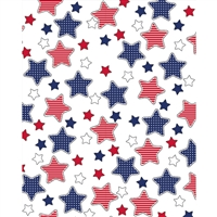 Blue & Red Stars Printed Backdrop