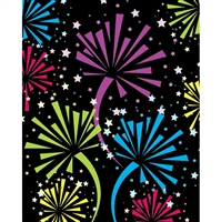 Colorful Firework Printed Backdrop