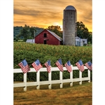 Patriotic Sunset Printed Backdrop