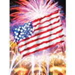 Patriotic Strokes Printed Backdrop