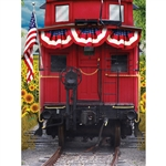 Train Caboose Printed Backdrop