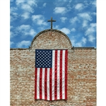 Hanging American Flag Printed Backdrop