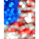 Bokeh American Flag Printed Backdrop