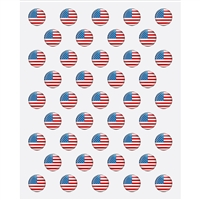American Flag Pins Printed Backdrop