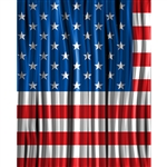 Waving Flag Curtains Printed Backdrop