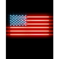 Glowing American Flag Printed Backdrop