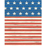 Stars & Stripes Planks Printed Backdrop