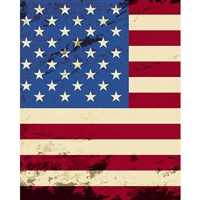 Worn American Flag Printed Backdrop