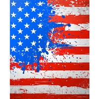 Paint Splattered Flag Printed Backdrop