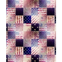 Patriotic Quilt Printed Backdrop