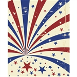 Patriotic Starburst Printed Backdrop