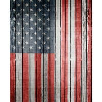 Hanging Flag Planks Printed Backdrop