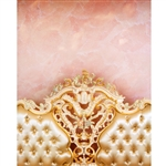 Pink Princess Headboard Printed Backdrop