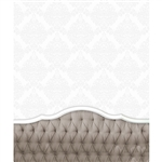 Mocha Tufted Headboard Printed Backdrop