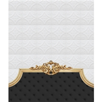 Royal Black Headboard Printed Backdrop