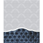 Deep Blue Tufted Headboard Printed Backdrop