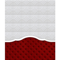 Red Tufted Headboard Printed Backdrop