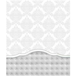 Damask White Tufted Headboard Printed Backdrop