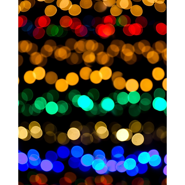 Bokeh Christmas Lights Printed Backdrop - Bokeh Christmas Lights Printed Backdrop Backdrop Express