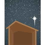 Nativity Manger Printed Backdrop