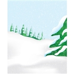 Snowy Hill Printed Backdrop