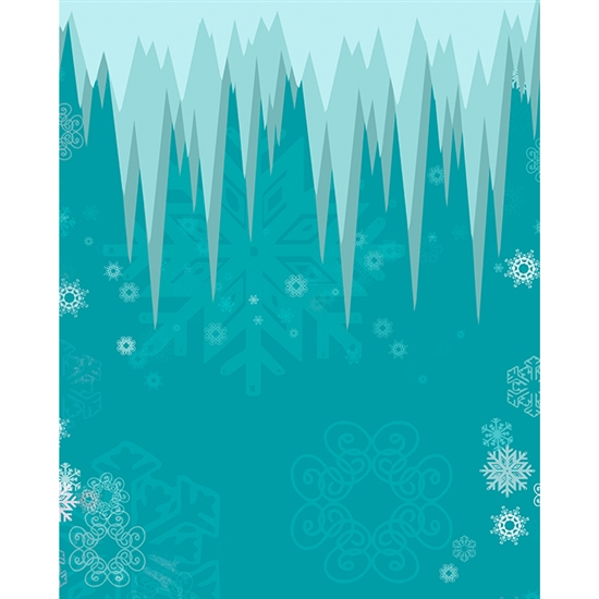 Frozen Icicle Printed Backdrop Backdrop Express