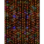 Dangling Christmas Lights Printed Backdrop