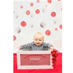 Hanging Red Ornaments Printed Backdrop