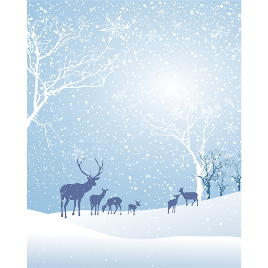 Winter Meadow  Printed Backdrop