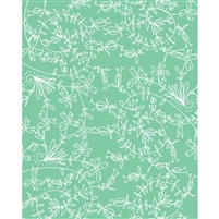 Teal Drawings Printed Backdrop