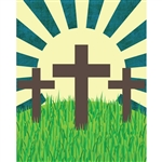 Three Crosses Printed Backdrop