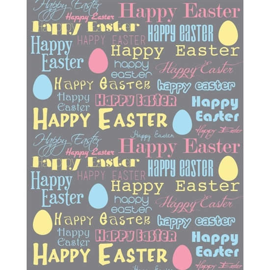 Happy Easter Pastel Printed Backdrop