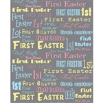 1st Easter Printed Backdrop