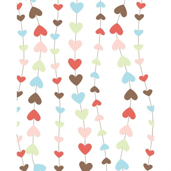 Heart Strings Printed Backdrop