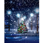 Christmas Snow Storm Printed Backdrop