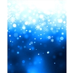 Falling Blue Snowflakes Printed Backdrop