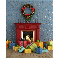 Christmas Room Printed Backdrop