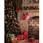Christmas Great Room Printed Backdrop