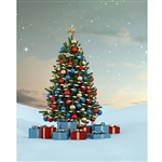 Christmas Slopes Printed Backdrop
