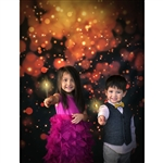 Dark Gold Bokeh Printed Backdrop