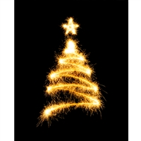 Sparkler Tree Printed Backdrop
