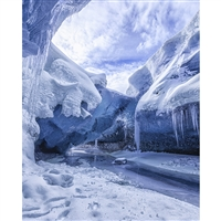 Glacier Cave Printed Backdrop