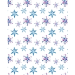 Watercolor Snowflakes Printed Backdrop