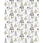 Black & Gold Christmas Printed Backdrop