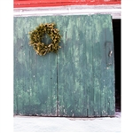 Holiday Barn Door Printed Backdrop
