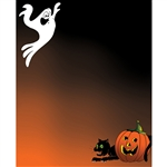Jack-O-Lantern Printed Backdrop