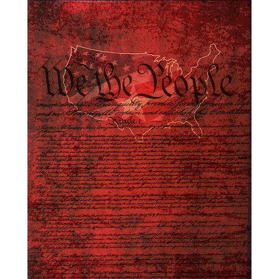 """We the People"" Printed Backdrop"