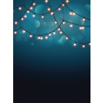 Indigo Bokeh Lights Printed Backdrop
