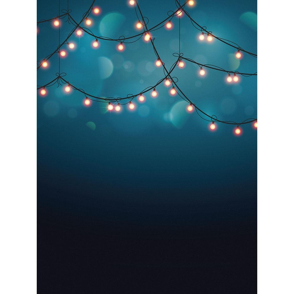 Indigo Bokeh Lights Printed Backdrop Backdrop Express